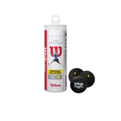 Wilson squashbal gele stip (3x tube)